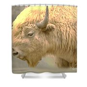 The Great White Buffalo Shower Curtain