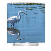 The Great White Fisherman Shower Curtain