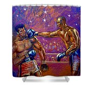 the Greatest  Muhammed Ali vs Jack Johnson Shower Curtain