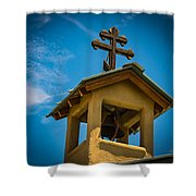 The Greek Orthodox Belfry Shower Curtain