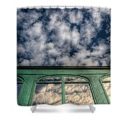 The Green Carriage Shower Curtain