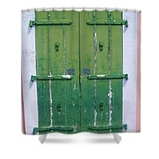 The Green Door Shower Curtain