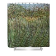 The Green Field Shower Curtain