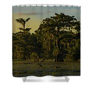 The Green Green Trees Of Home Shower Curtain