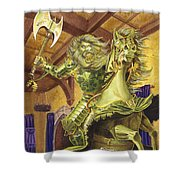 The Green Knight Shower Curtain