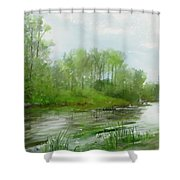 The Green Magic Of Ordinary Days Shower Curtain
