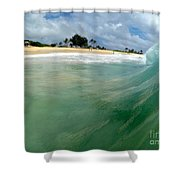 The Green Monster  Shower Curtain