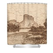 The Green River, Wyoming Territory Shower Curtain
