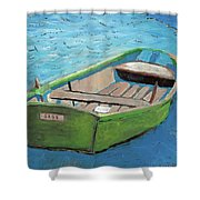 The Green Rowboat Shower Curtain