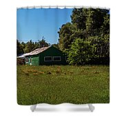 The Green Shack Shower Curtain