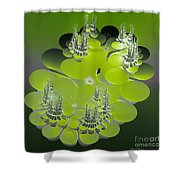 The Green Towers Shower Curtain