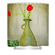 The Green Vase Shower Curtain