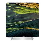 The Green Waves Of Palouse Wa Dsc05032  Shower Curtain