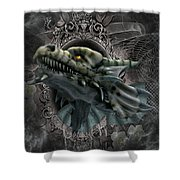 The Grey Dragon Shower Curtain