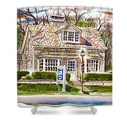 The Greystone Inn In Brigadoon Shower Curtain