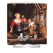 The Grocery Shop 1672 Shower Curtain