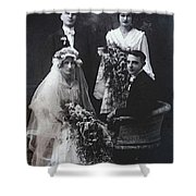 The Groom Pines For The Bridesmaid Shower Curtain