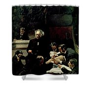 The Gross Clinic Shower Curtain by Thomas Cowperthwait Eakins