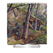 The Grotto Shower Curtain by Don Perino