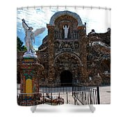 The Grotto Of Redemption In Iowa Shower Curtain