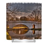 The Grove Bridge On The Grand Union Canal  Shower Curtain