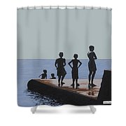 The Groyne - Stand And Stare Shower Curtain