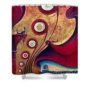 The Guardian Of Changes The Destiny Shower Curtain