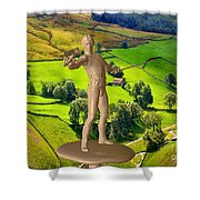 The Guardian Of The Valley Shower Curtain