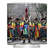 The Guards Of Seoul. Shower Curtain