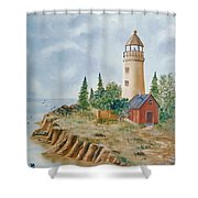 The Guiding Light Shower Curtain