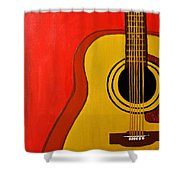 The Guitar Shower Curtain