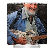 The Guitar Player Shower Curtain