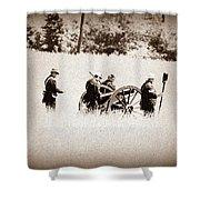 The Guns Of Gettysburg Shower Curtain