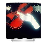 The Hand And The Violin Shower Curtain
