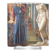 The Hand Refrains 2nd Series Pygmalion 1878 Shower Curtain