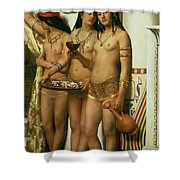 The Handmaidens Of Pharaoh Shower Curtain