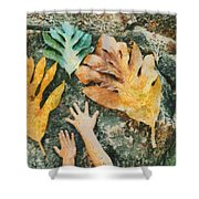 The Hands 2 Shower Curtain