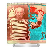 The Hands Of Picasso Shower Curtain