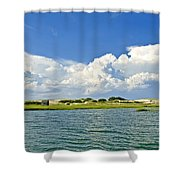 The Handys Camp On Sandy Neck Shower Curtain
