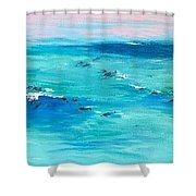 The Happy Beach Shower Curtain