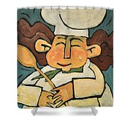 The Happy Chef Shower Curtain