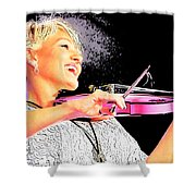 The Happy Fiddler Shower Curtain