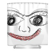The Happy Man  Shower Curtain