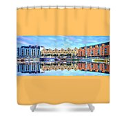 The Harbor At Galway Shower Curtain