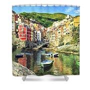 The Harbor At Rio Maggiore Shower Curtain