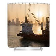 The Harbor Shower Curtain