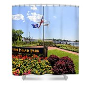 The Harbor Island Park In Mamarineck, Westchester County Shower Curtain