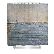 The Harbour At Portrieux Shower Curtain