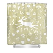 The Hare In The Meadow Shower Curtain
