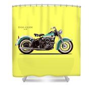 The Harley Duo-glide 1958 Shower Curtain